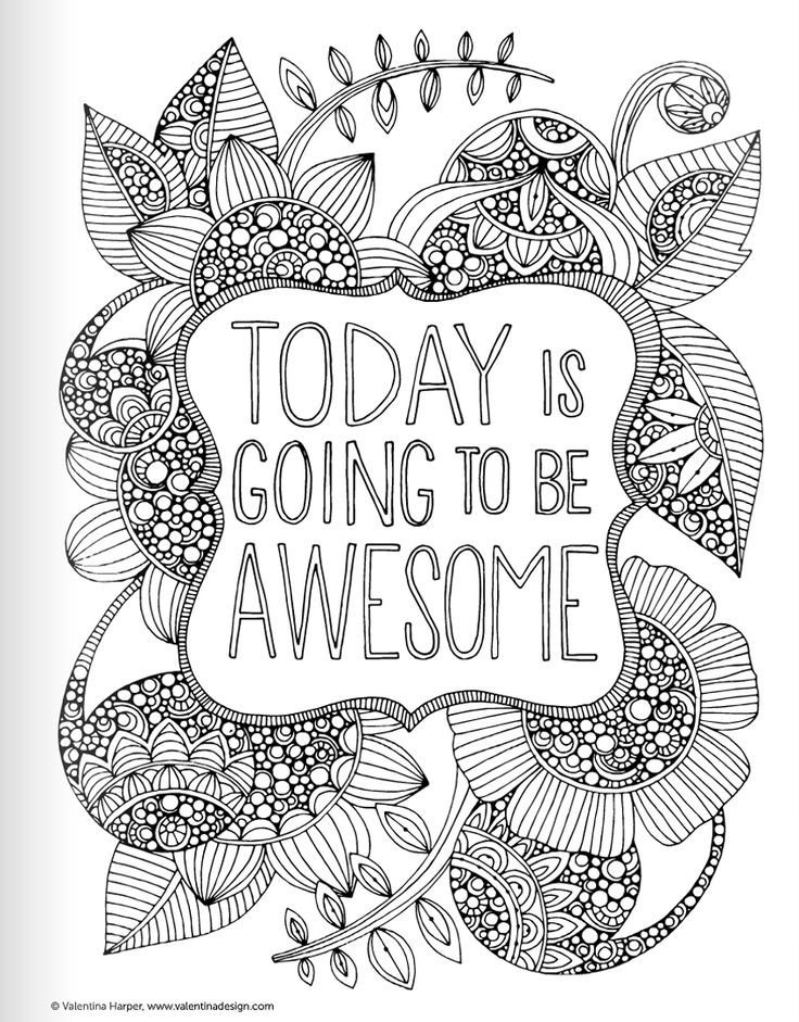 Adult Coloring Books Quotes  Inspirational Quotes Coloring Book for Adults