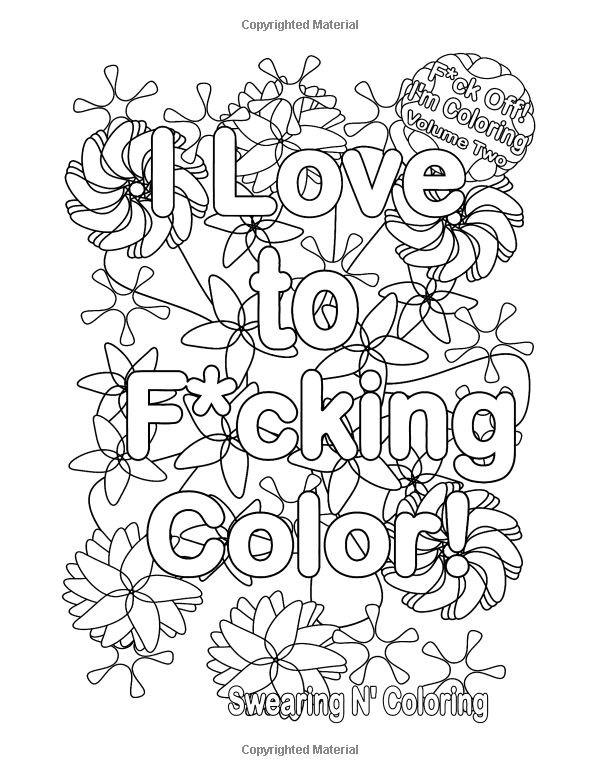 Adult Coloring Books With Swear Words  Coloring Book Font For Word