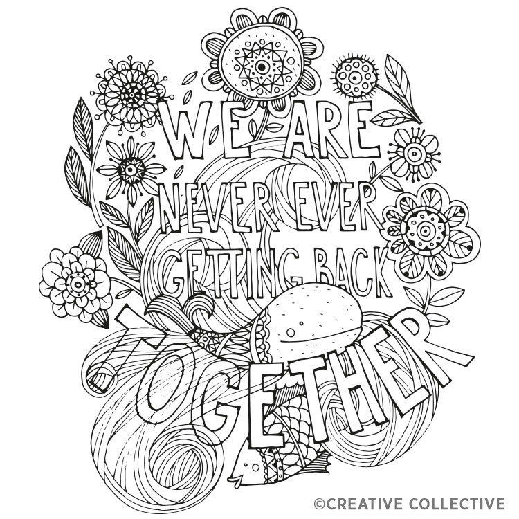 Adult Coloring Books With Swear Words  FREE Coloring Pages From Creative Collective – Adult