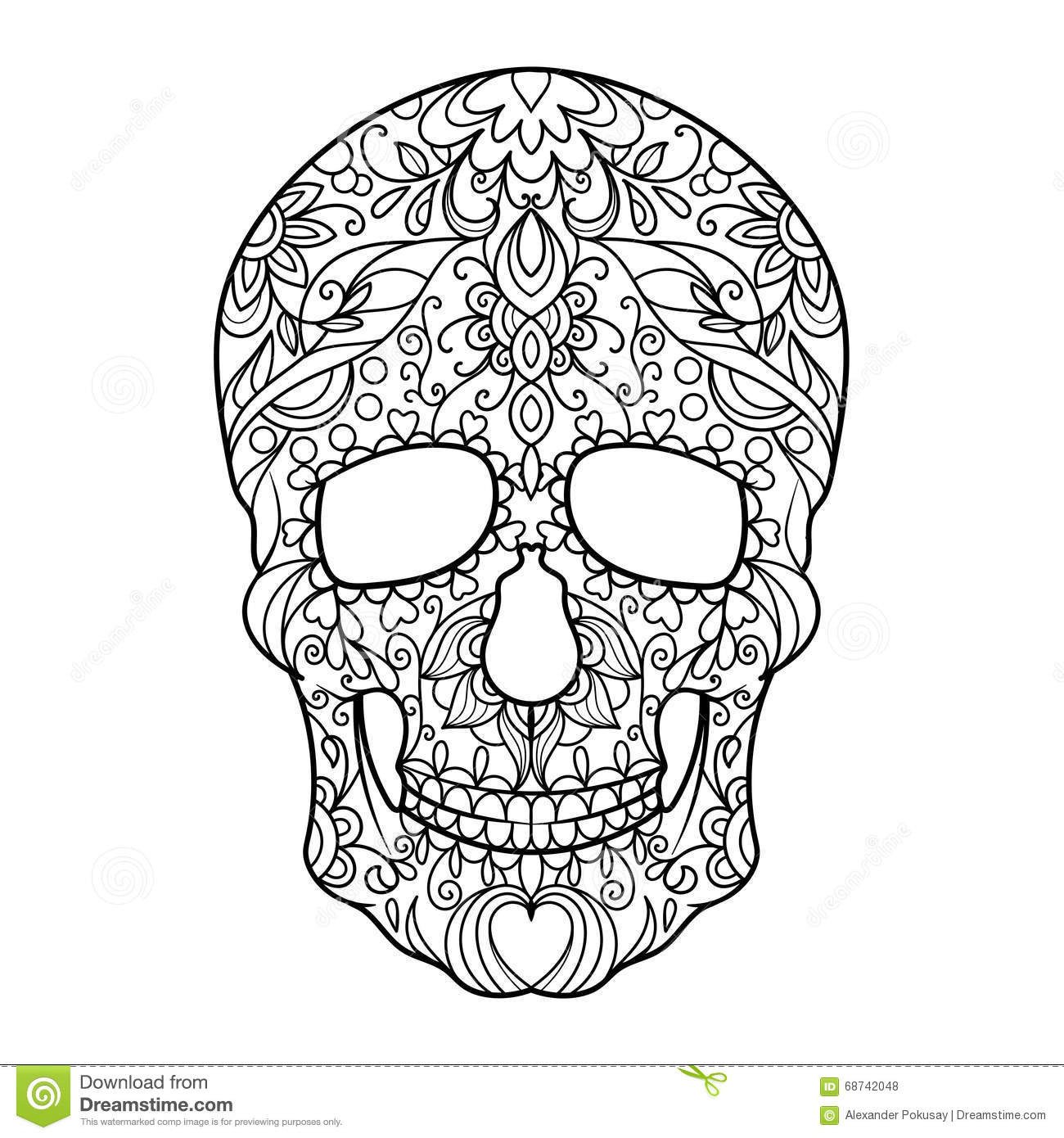 Adult Coloring Pages Abstract Skull  Abstract Skulls Coloring Coloring Pages