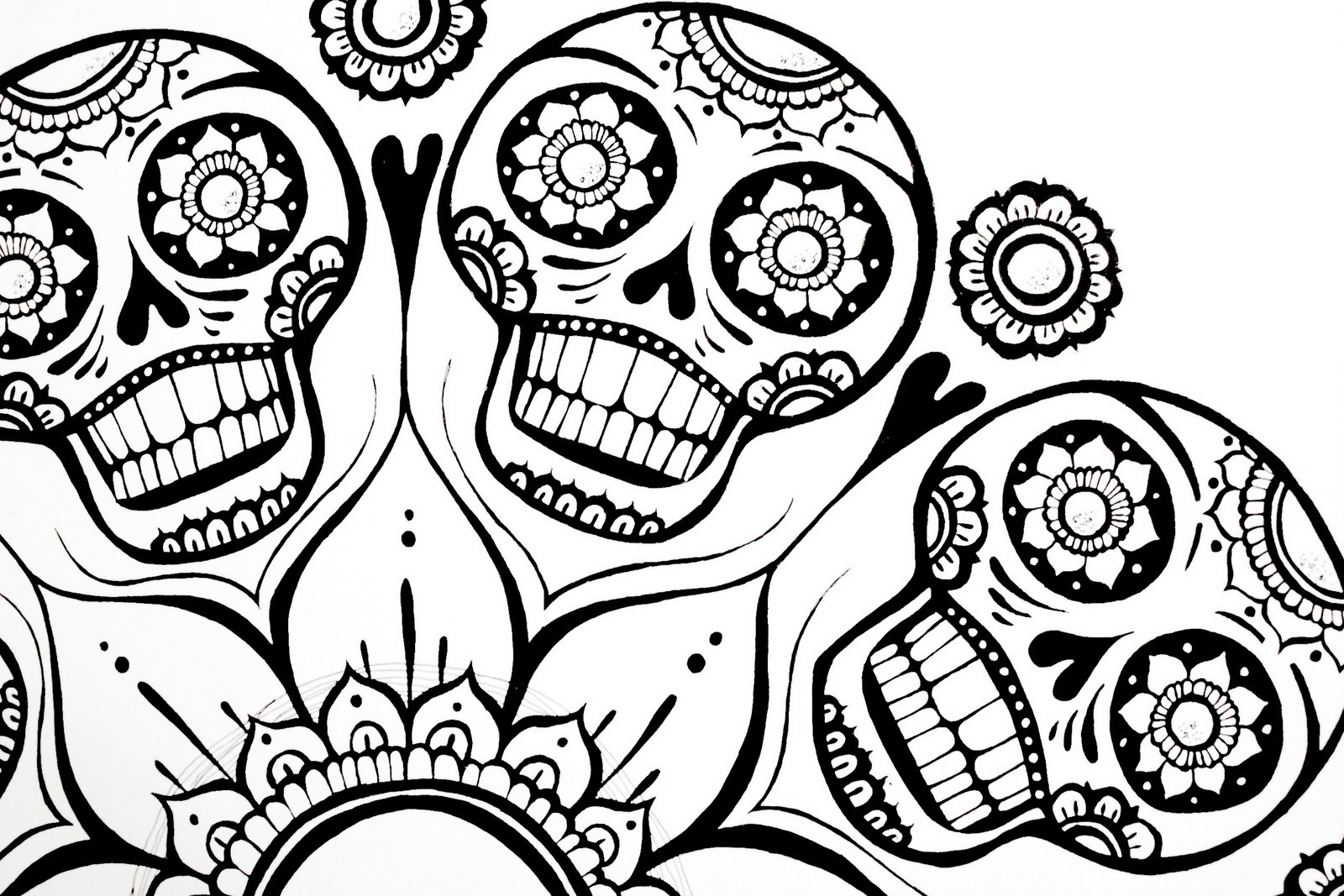 Adult Coloring Pages Abstract Skull  ispywithmycraftyeyes 01 12