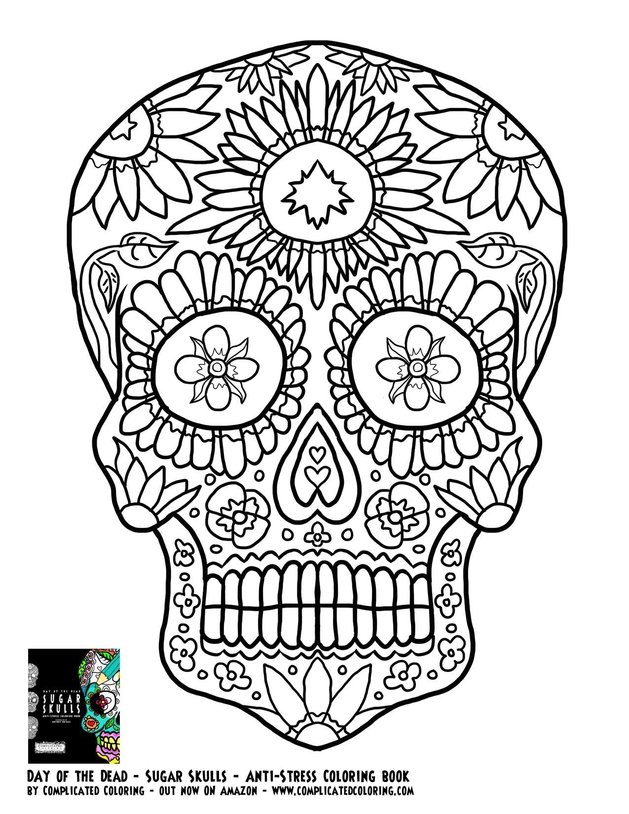 Adult Coloring Pages Abstract Skull  Adult Coloring Pages Abstract Skull Day the Dead