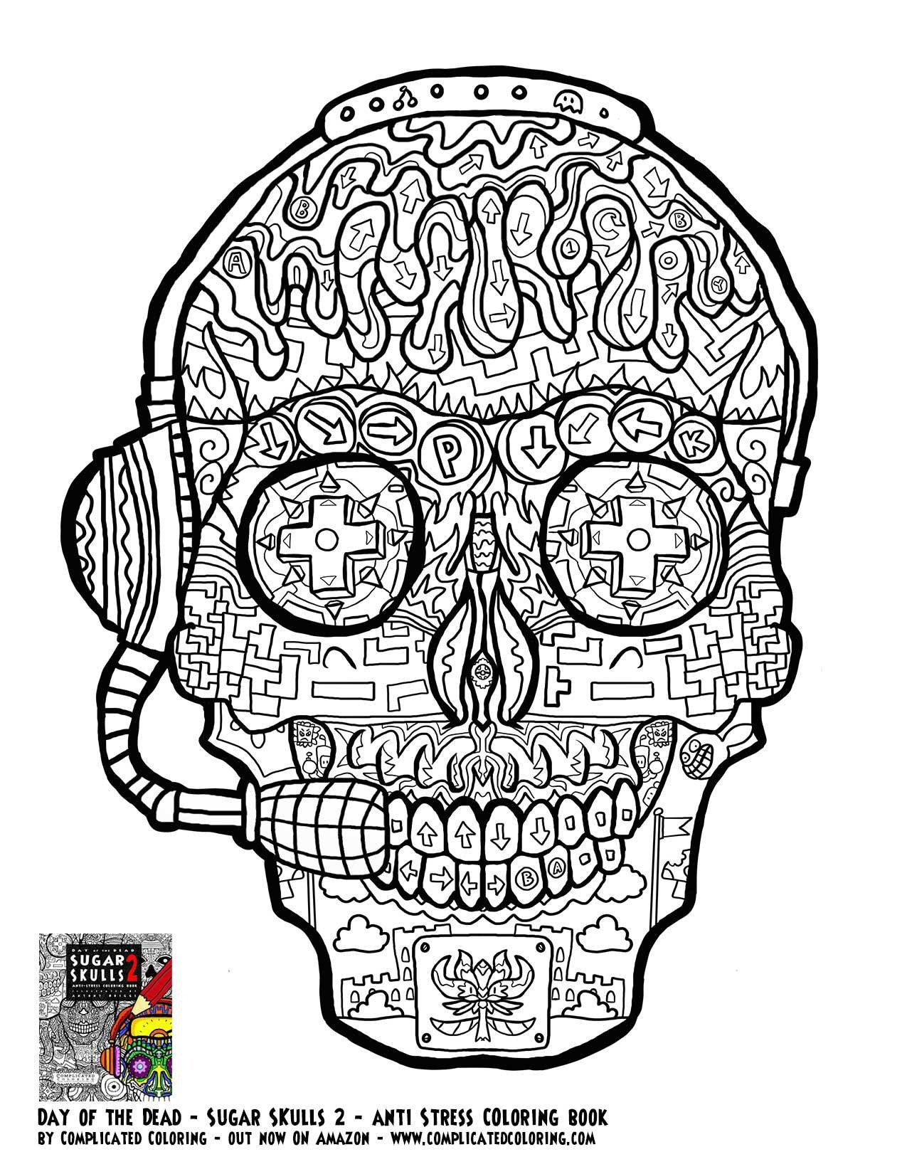 Adult Coloring Pages Abstract Skull  Adult Coloring Pages Abstract Skull Free Free Coloring Books