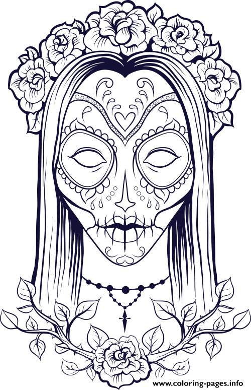 Adult Coloring Pages Abstract Skull  18luxury Sugar Skull Coloring Pages For Adults Clip arts