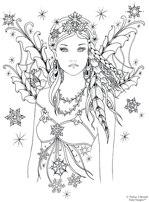 Adult Coloring Pages Fairy  home improvement Fairy coloring books Coloring Page for