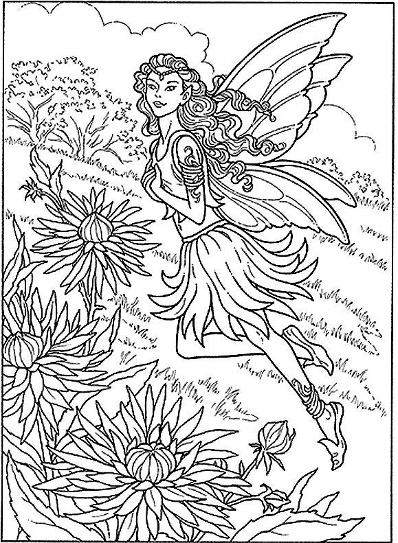 Adult Coloring Pages Fairy  coloring pages for adults difficult fairies Google