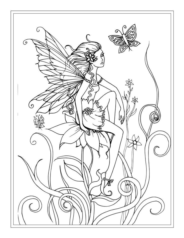 Adult Coloring Pages Fairy  Fairy Colouring Pages For Adults – Color Bros