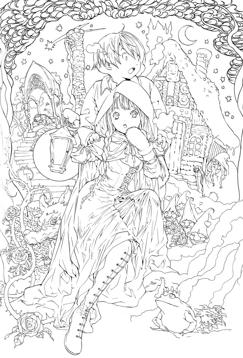 Adult Coloring Pages Fairy  Anime Coloring Pages for Adults Bestofcoloring