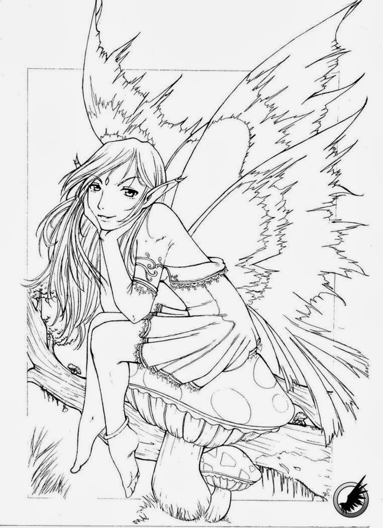 Adult Coloring Pages Fairy  Difficult Coloring Pages For Adults Fairies – Color Bros