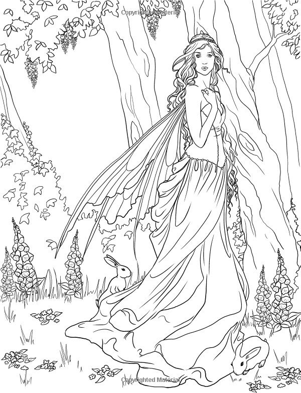 Adult Coloring Pages Fairy  Fairy Coloring Pages for Adults 40 Image Collections