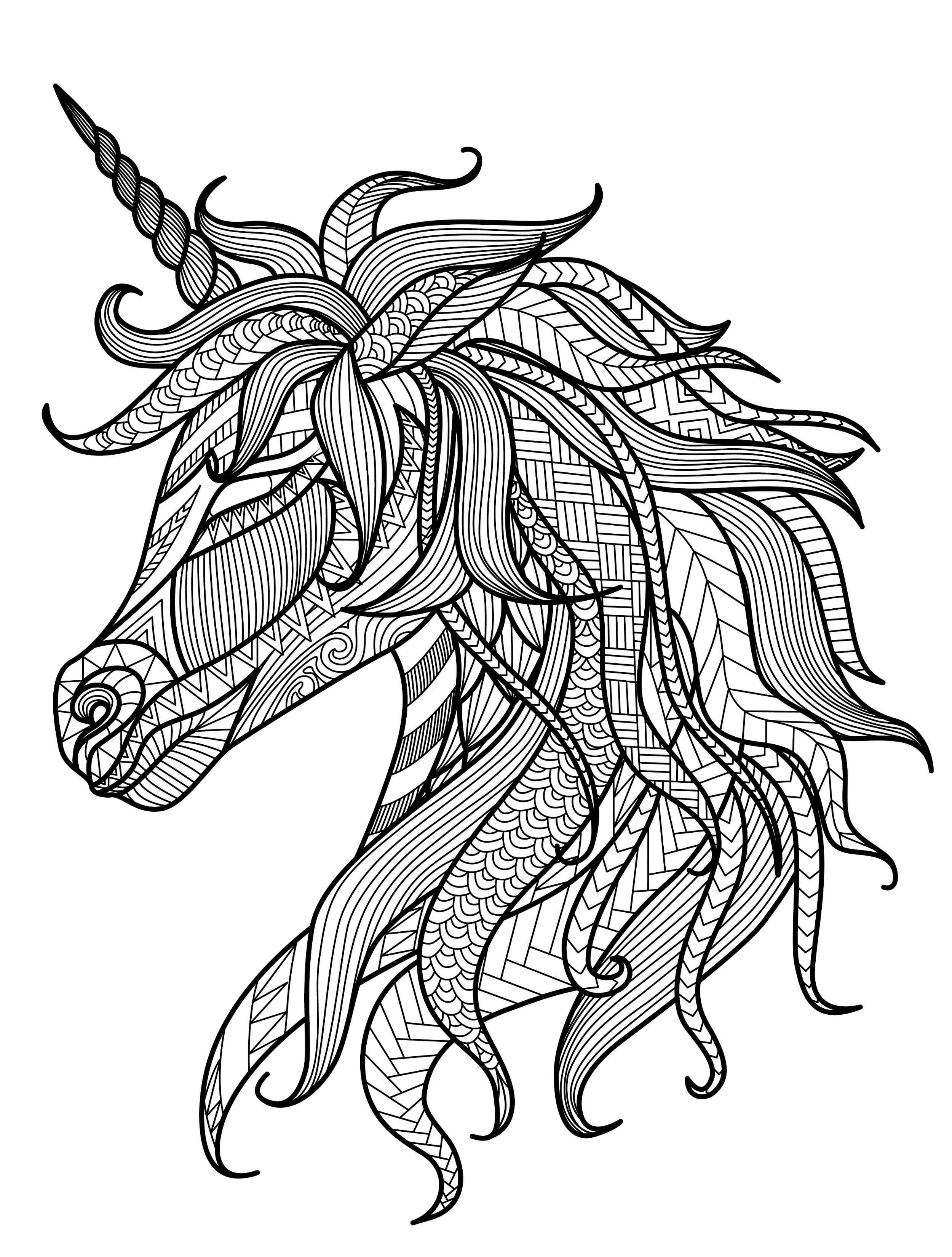 Adult Coloring Pages Unicorn  20 Gorgeous Free Printable Adult Coloring Pages Page 5