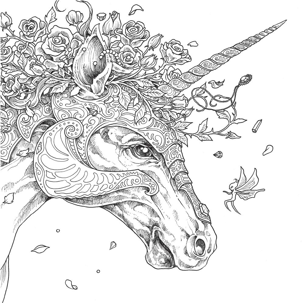 Adult Coloring Pages Unicorn  ce Upon A Time Mythomorpia Happened Kerby Rosanes