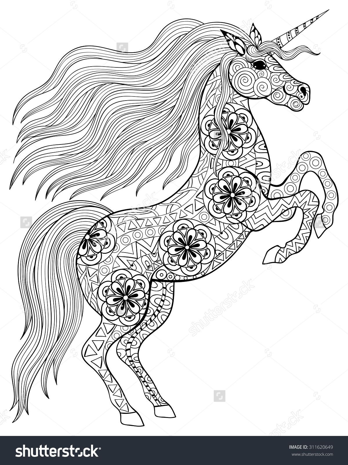 Adult Coloring Pages Unicorn  Pin by Ulrica Flodin on 1A d z Animals