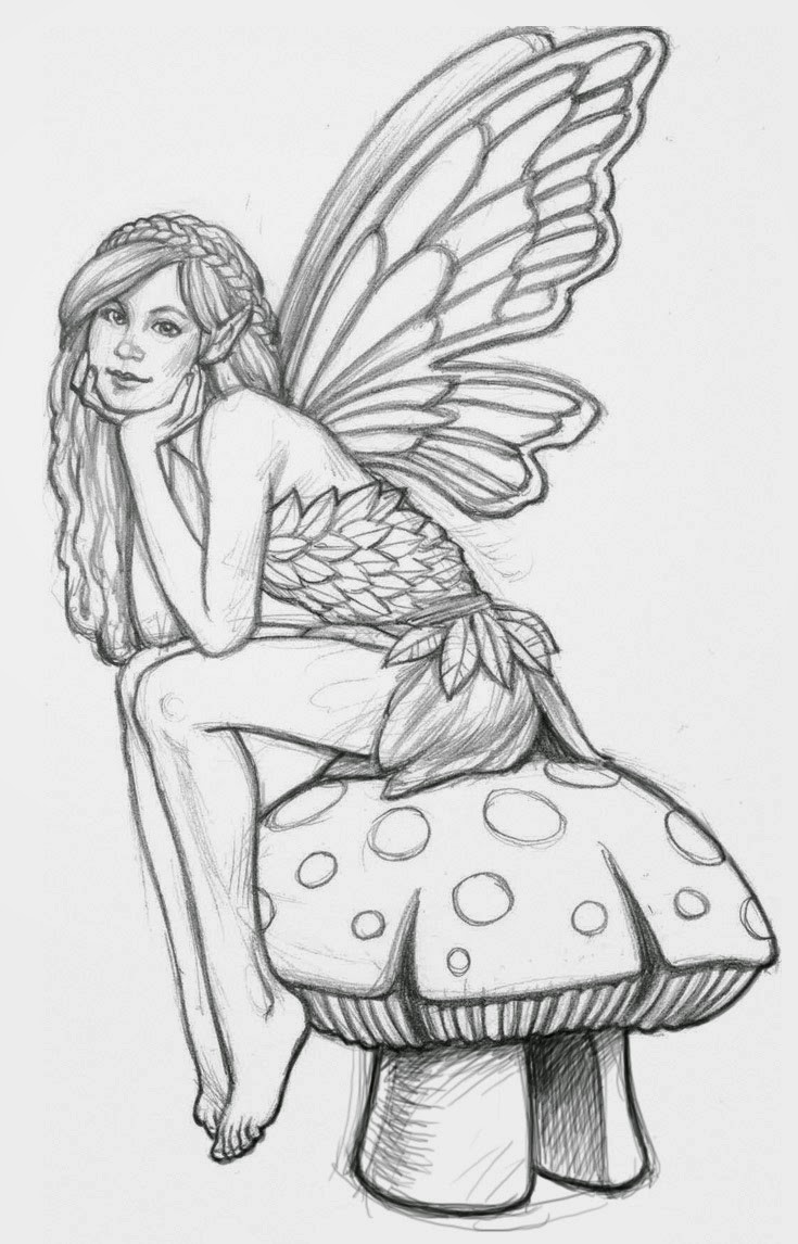 Adult Fairy Coloring Pages  Coloring Pages Fairies Free Printable Coloring Pages Free