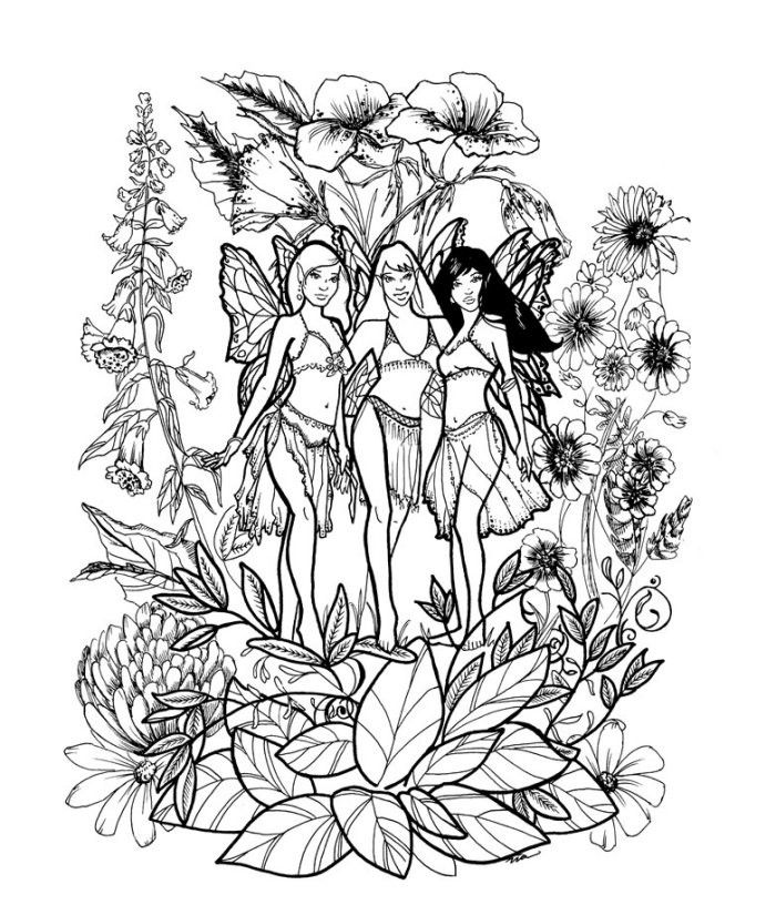 Adult Fairy Coloring Pages  Free Coloring Pages Fairies To Print