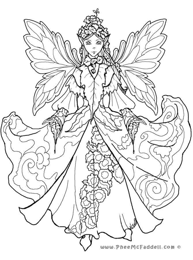 Adult Fairy Coloring Pages  Free Coloring Pages Fairy House 7553 Bestofcoloring