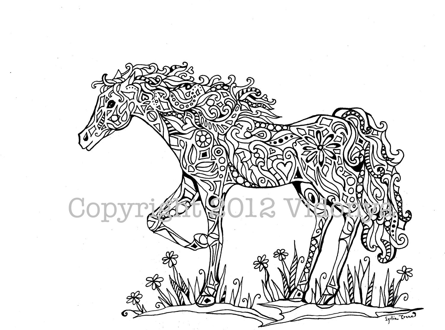 Adult Horse Coloring Pages  Pages Coloring Mandala Adult Horses Coloring Pages