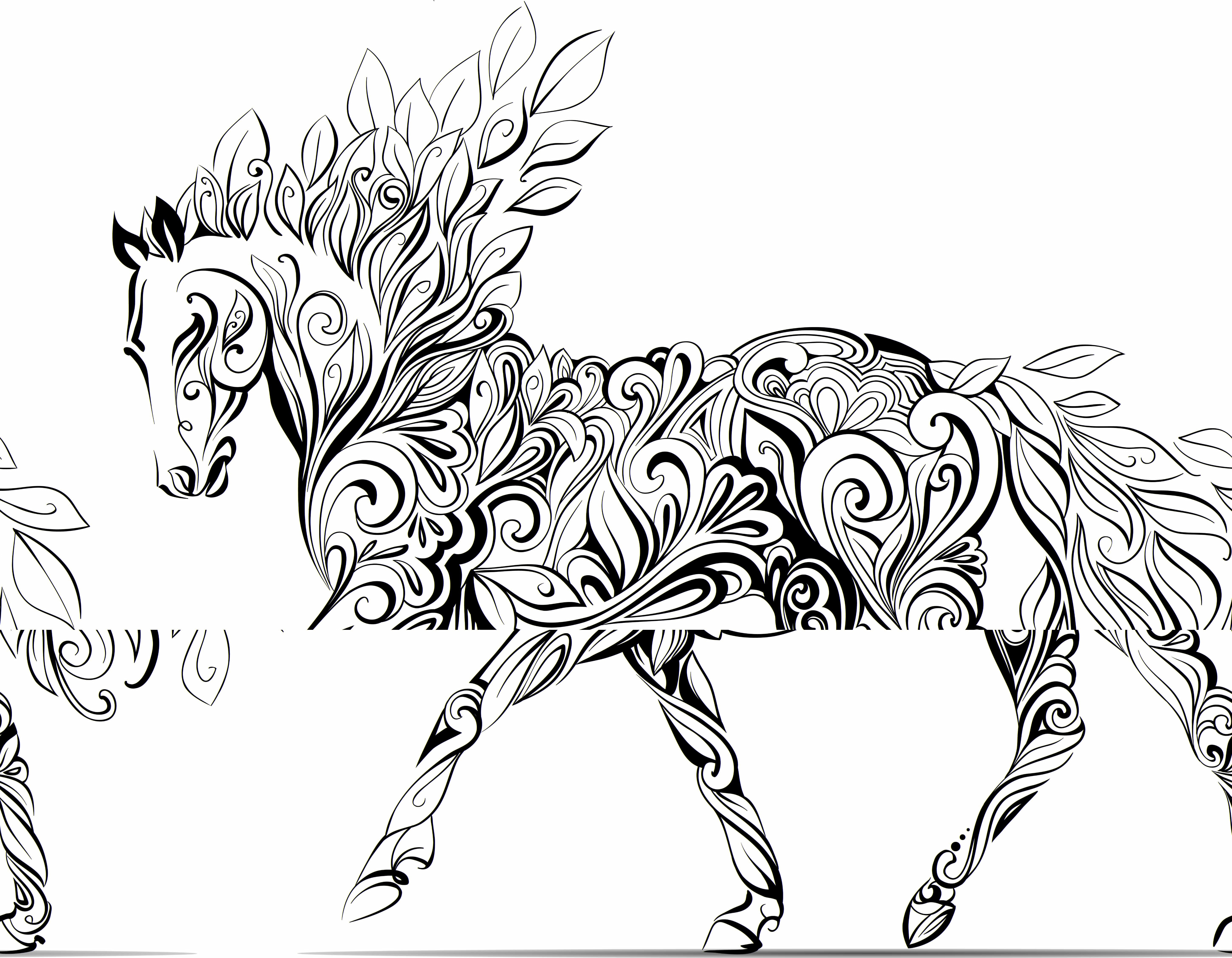 Adult Horse Coloring Pages  adult horse coloring pages children a to color wallpapers