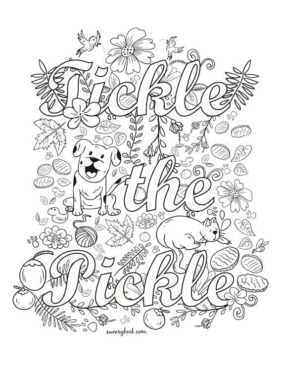 920 Free Printable Coloring Pages For Adults Swear Words Pictures