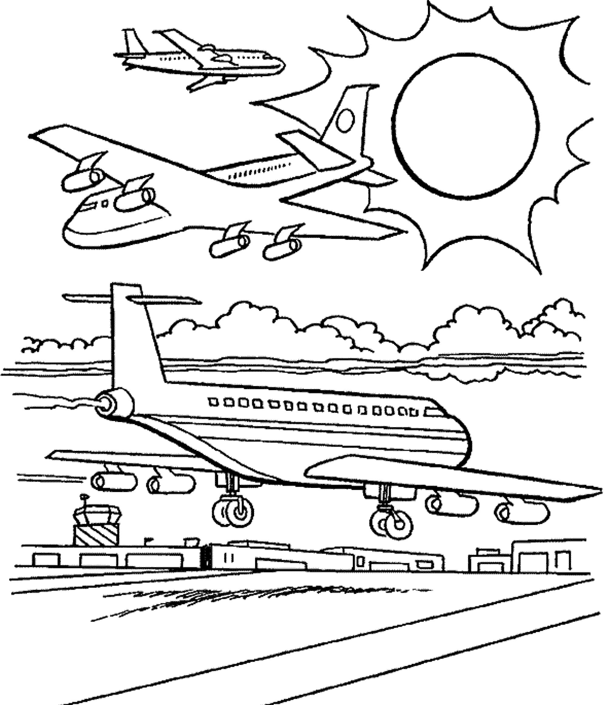 Airplane Coloring Pages For Adults  airplane coloring pages for adults