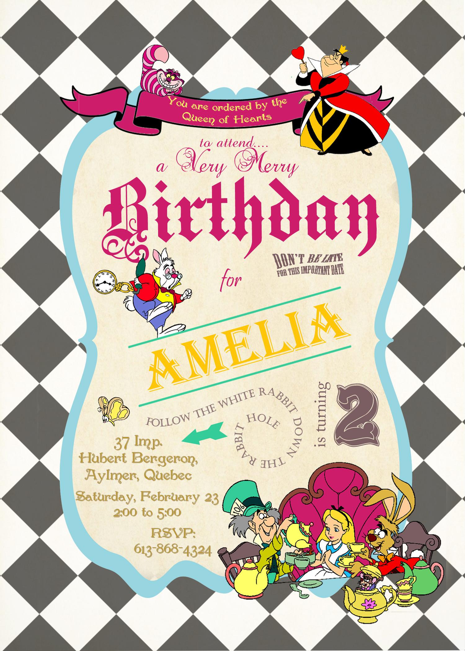 Best ideas about Alice In Wonderland Birthday Invitations . Save or Pin Alice in Wonderland Birthday Invitations Now.