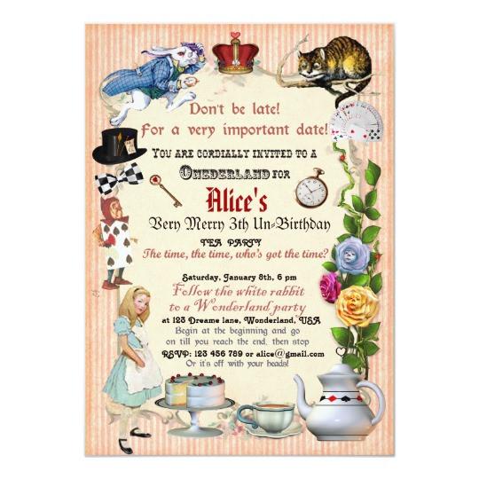 Best ideas about Alice In Wonderland Birthday Invitations . Save or Pin Alice in Wonderland Birthday Party Invitation Now.