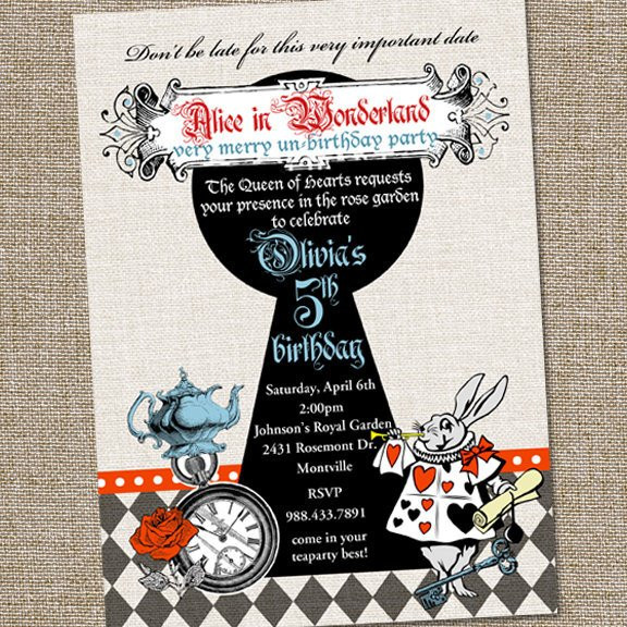 Best ideas about Alice In Wonderland Birthday Invitations . Save or Pin Vintage Alice in Wonderland Birthday Invitation Now.