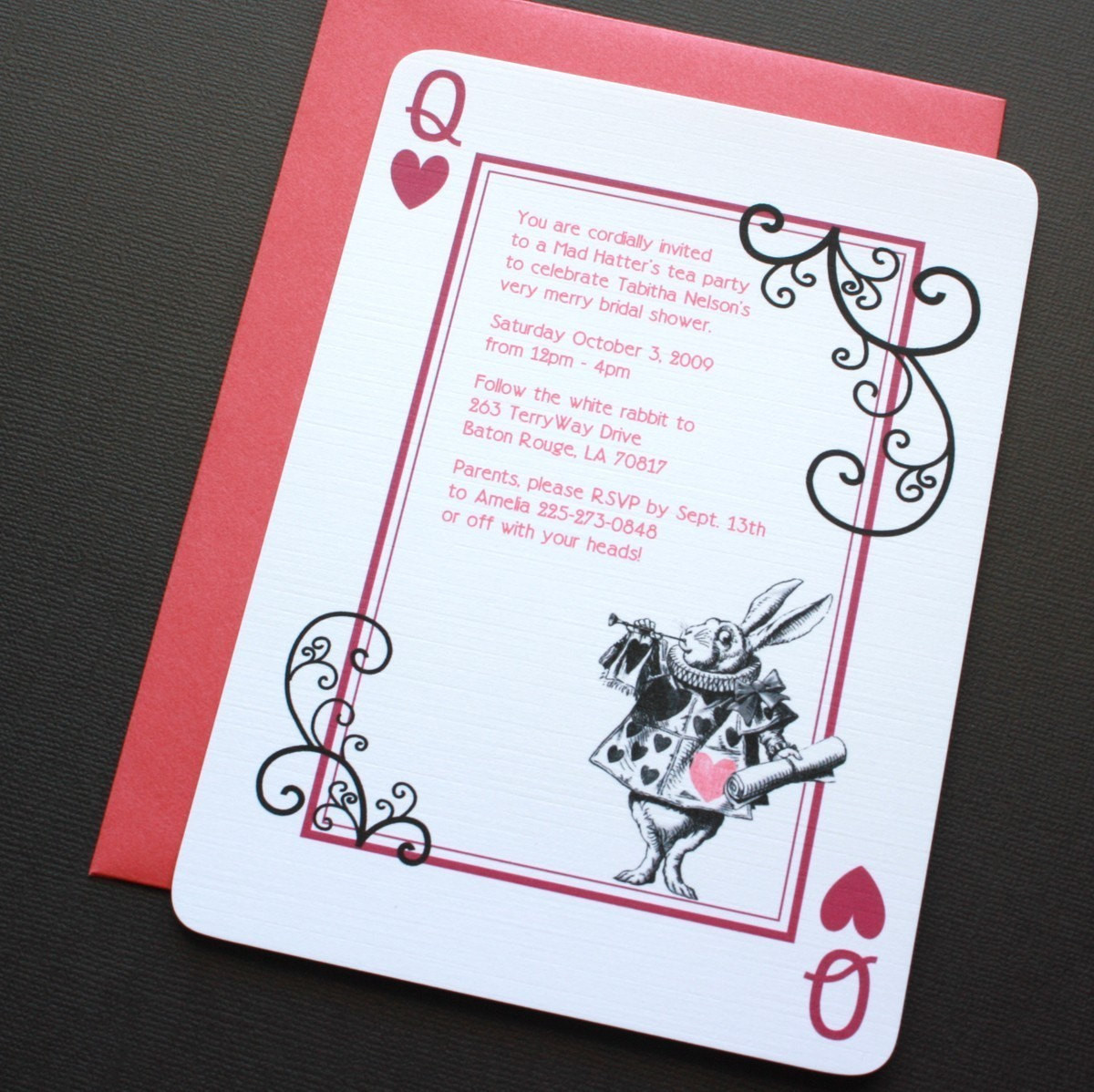 Best ideas about Alice In Wonderland Birthday Invitations . Save or Pin Alice in Wonderland Rabbit Invitations by VivaLaViolette Now.