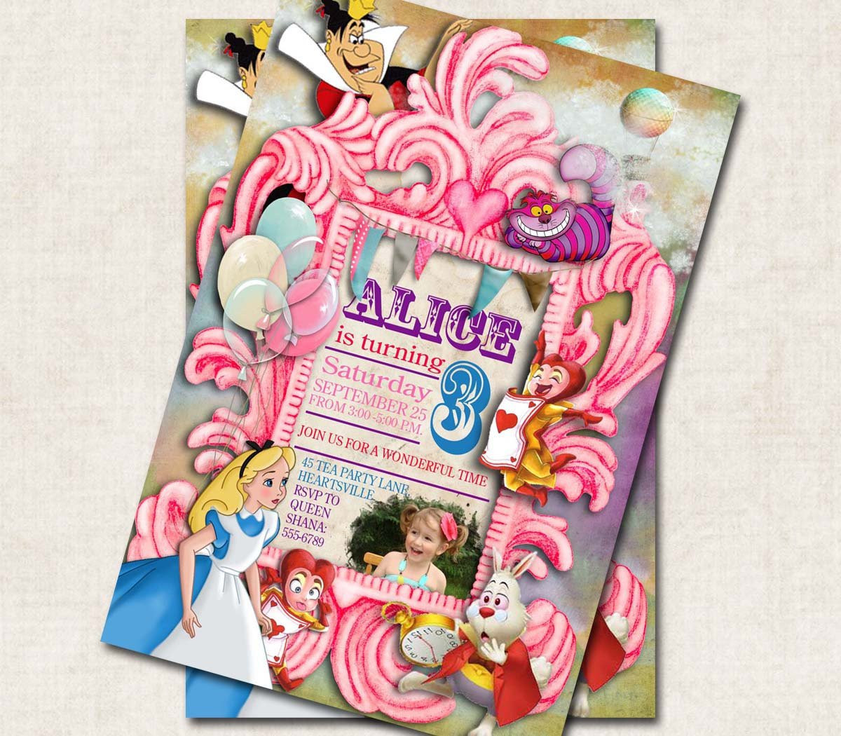 Best ideas about Alice In Wonderland Birthday Invitations . Save or Pin Alice in Wonderland Birthday Party by missbellaexpressions Now.