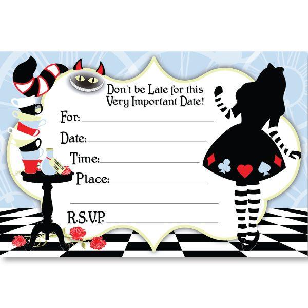 Best ideas about Alice In Wonderland Birthday Invitations . Save or Pin alice in wonderland party invitations Alice In Wonderland Now.