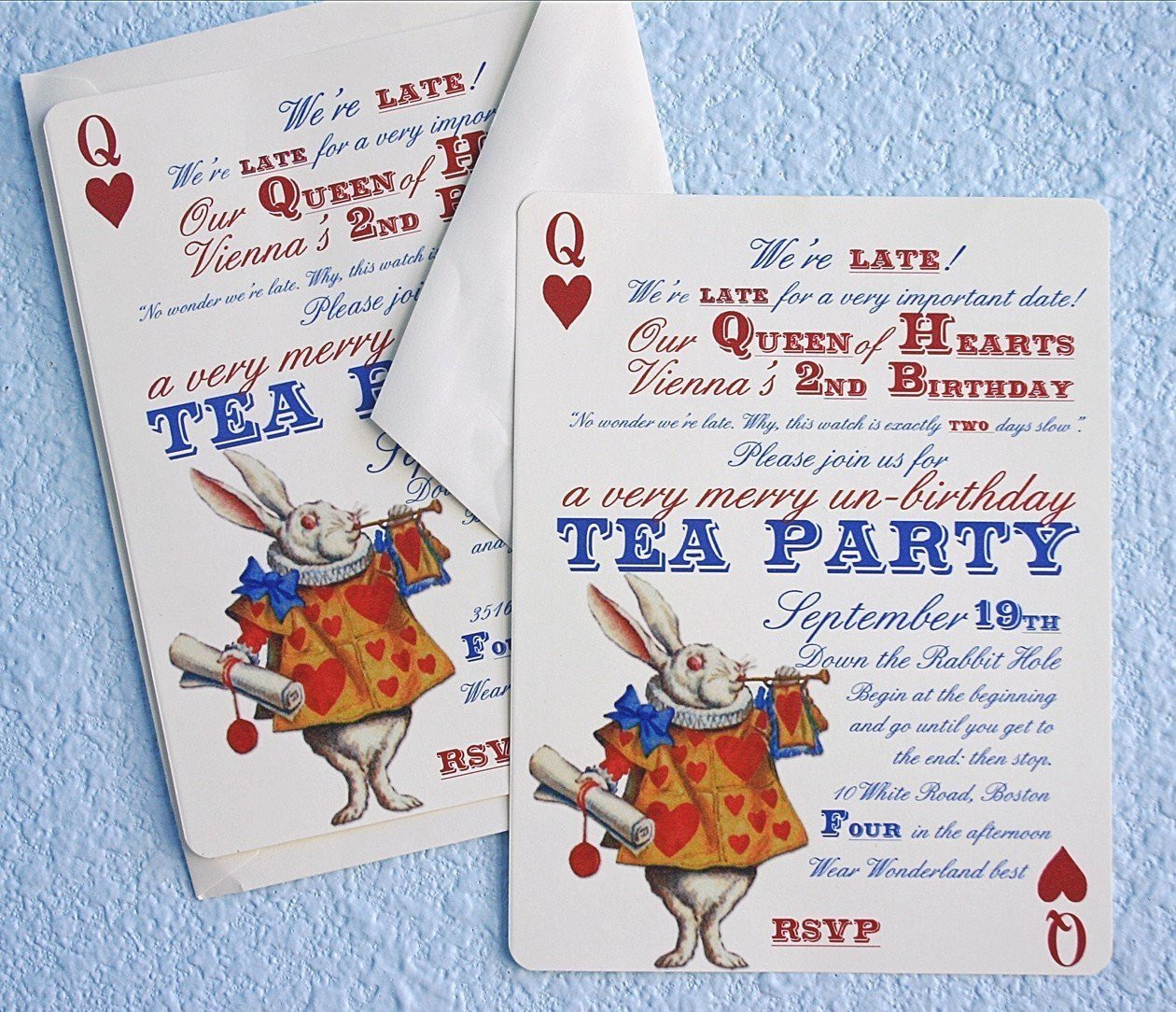Best ideas about Alice In Wonderland Birthday Invitations . Save or Pin Alice In Wonderland Un Birthday Tea Party Invitations Thank Now.