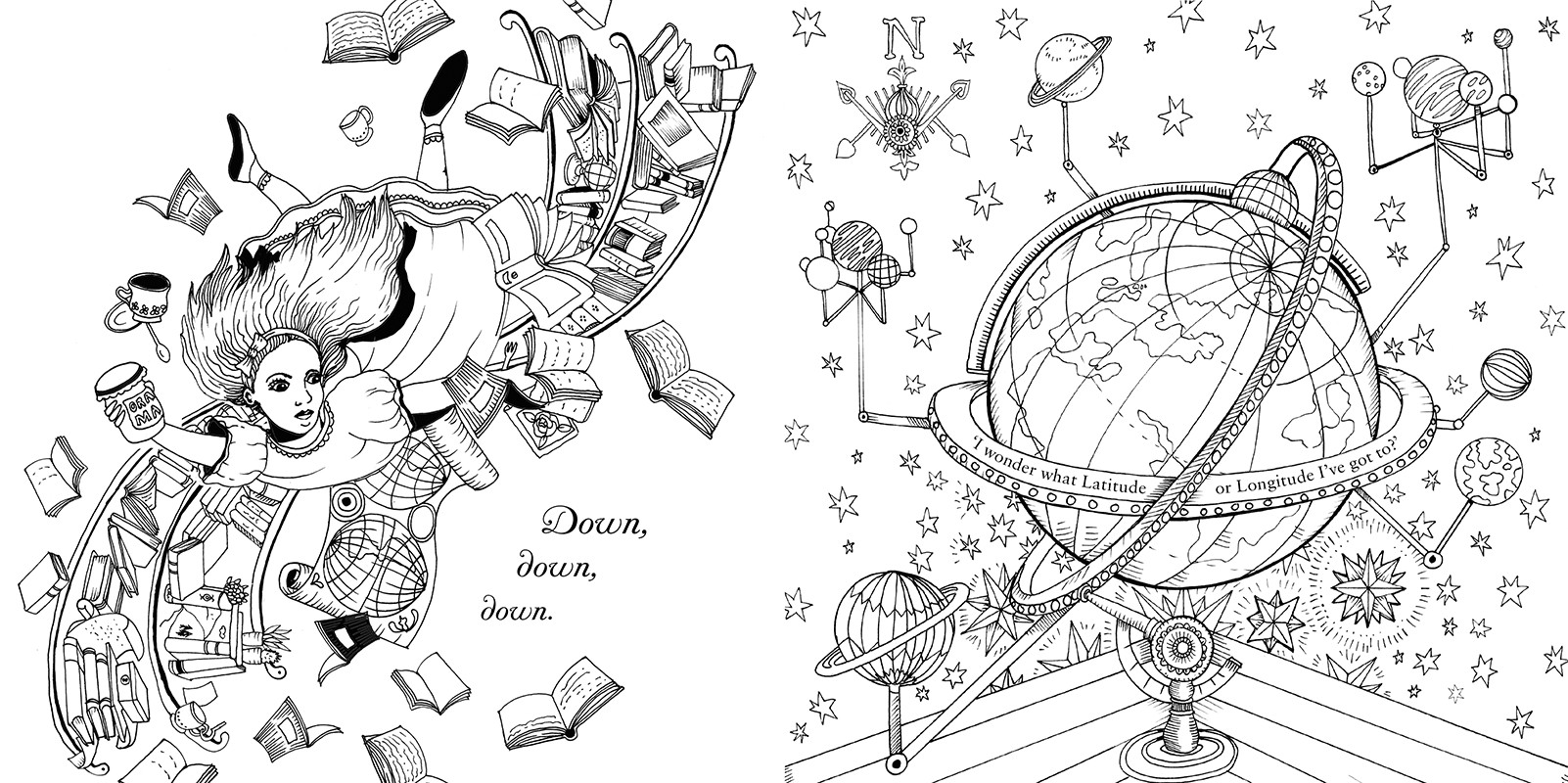 Alice In Wonderland Coloring Pages For Adults  Coloring Books For Grownups Alice In Wonderland