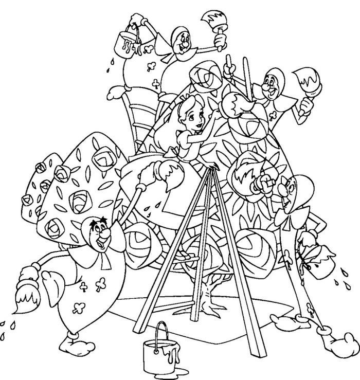 Alice In Wonderland Coloring Pages For Adults  Free Printable Alice in Wonderland Coloring Pages