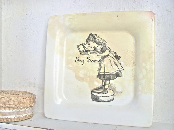 Best ideas about Alice In Wonderland Kitchen Decor . Save or Pin Alice in Wonderland Vintage Kitchen Sign by SweetMeas Now.