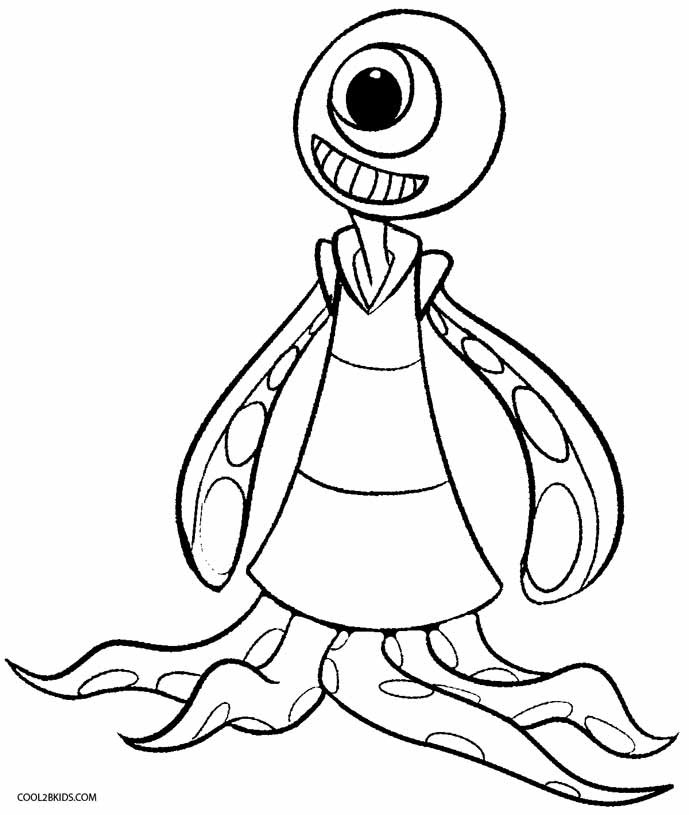 Aliens Coloring Pages  Printable Alien Coloring Pages For Kids