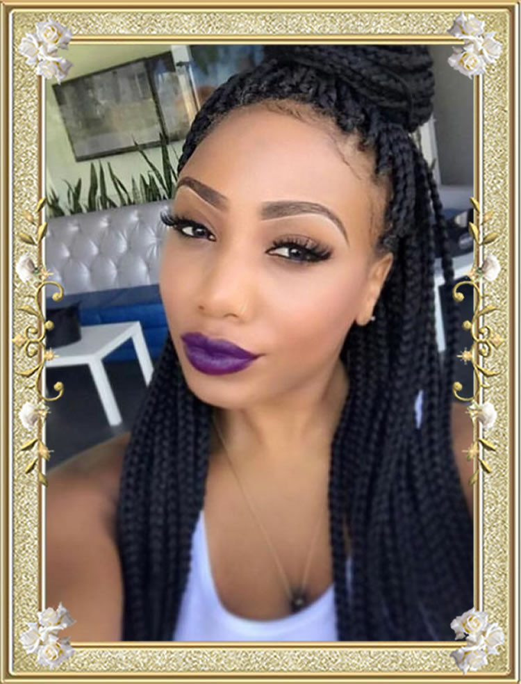 All Braids Hairstyles  60 Delectable Box Braids Hairstyles for Black Women