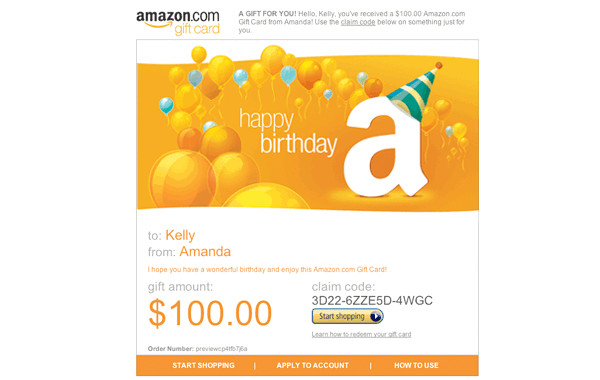 photograph relating to Amazon Printable Gift Card referred to as Excellent 20 Amazon Birthday Present Card - Least complicated Collections At any time