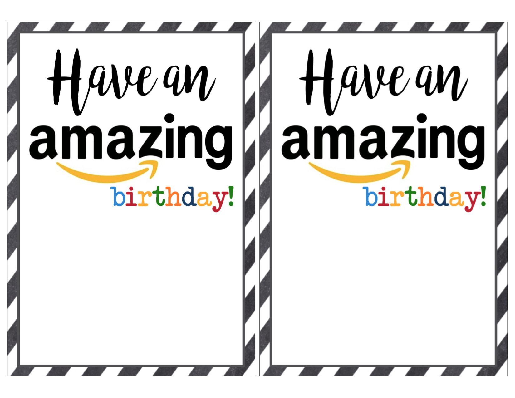 photo regarding Amazon Gift Card Printable known as Easiest 20 Amazon Birthday Present Card - Most straightforward Collections At any time