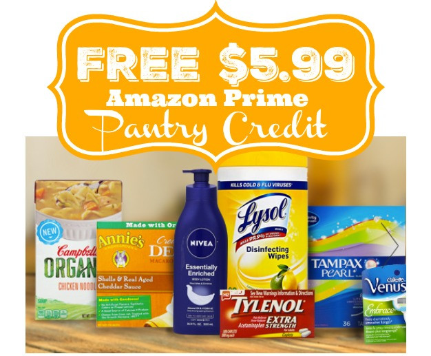 Best ideas about Amazon Prime Pantry Credit . Save or Pin HOT FREE $5 99 Amazon Prime Pantry Credit Now.