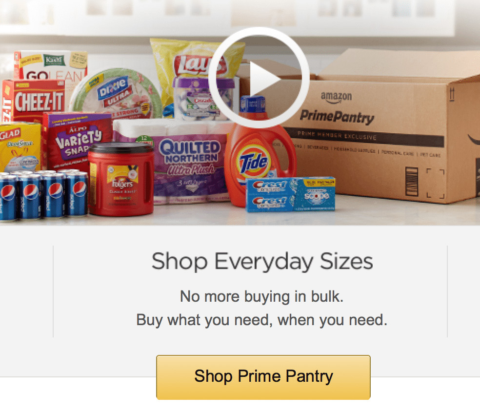 Best ideas about Amazon Prime Pantry Credit . Save or Pin Prime Panty vs Walmart $5 99 Credit Now.