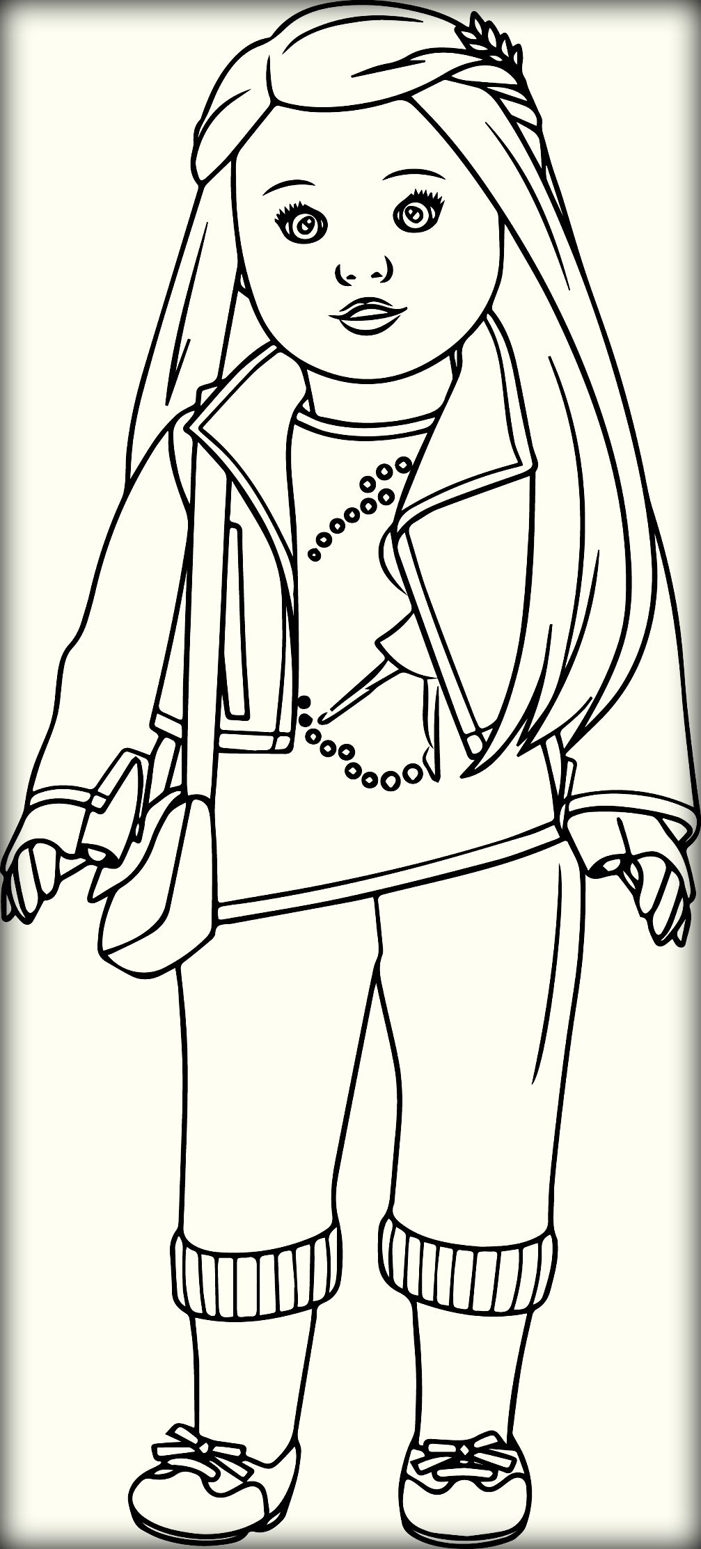 American Girl Doll Coloring Pages  American Girl Free Colouring Pages