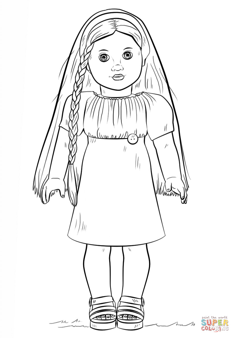 American Girl Doll Coloring Pages  American Girl Doll Julie coloring page