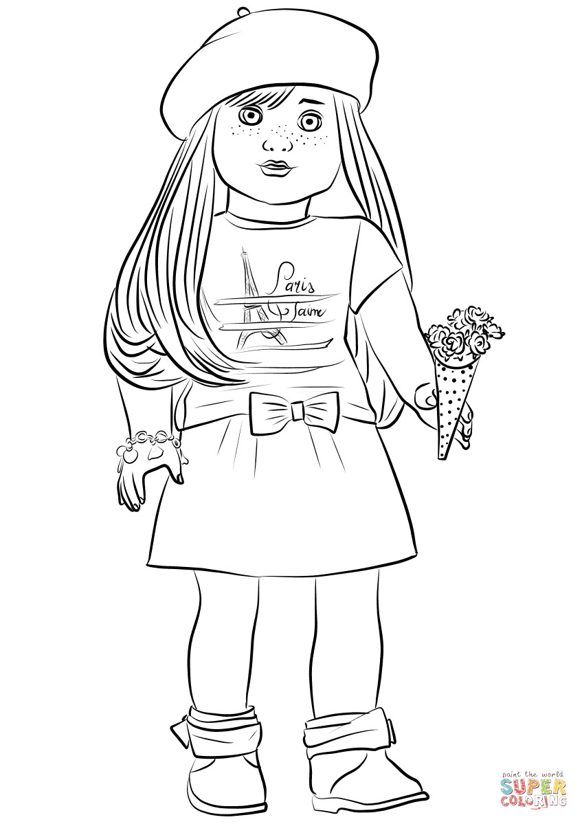 American Girl Doll Coloring Pages  American Girl Grace Thomas coloring page