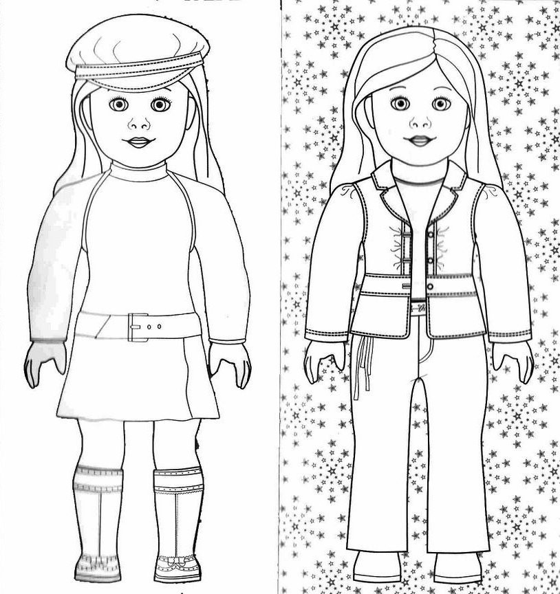 American Girl Doll Coloring Pages  Printable American Girl Doll Coloring Pages Coloring Pages