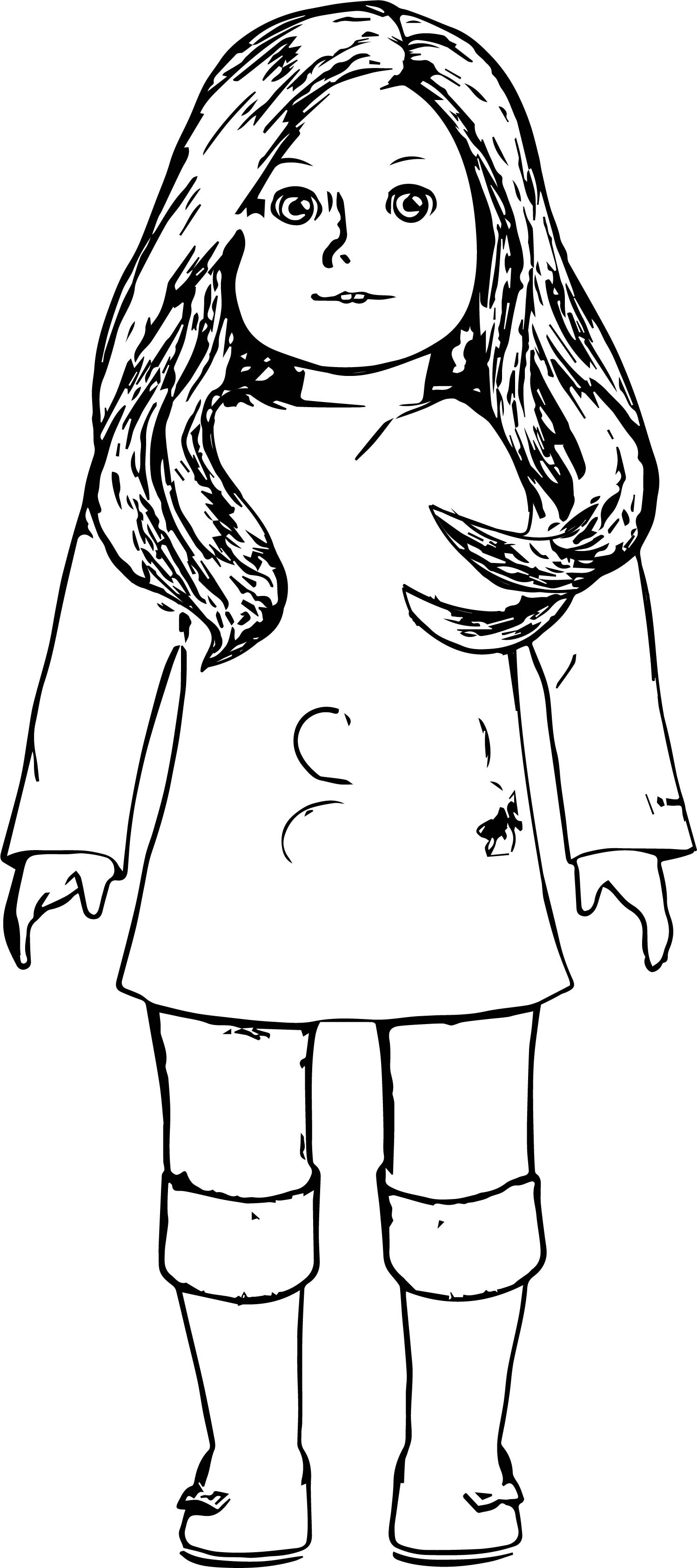 American Girl Doll Coloring Pages  My American Girl Doll Coloring Page