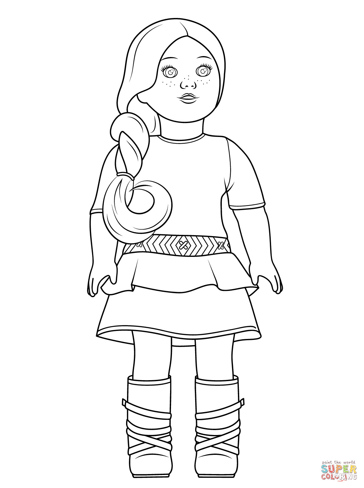 American Girl Doll Coloring Pages  American Girl Saige coloring page