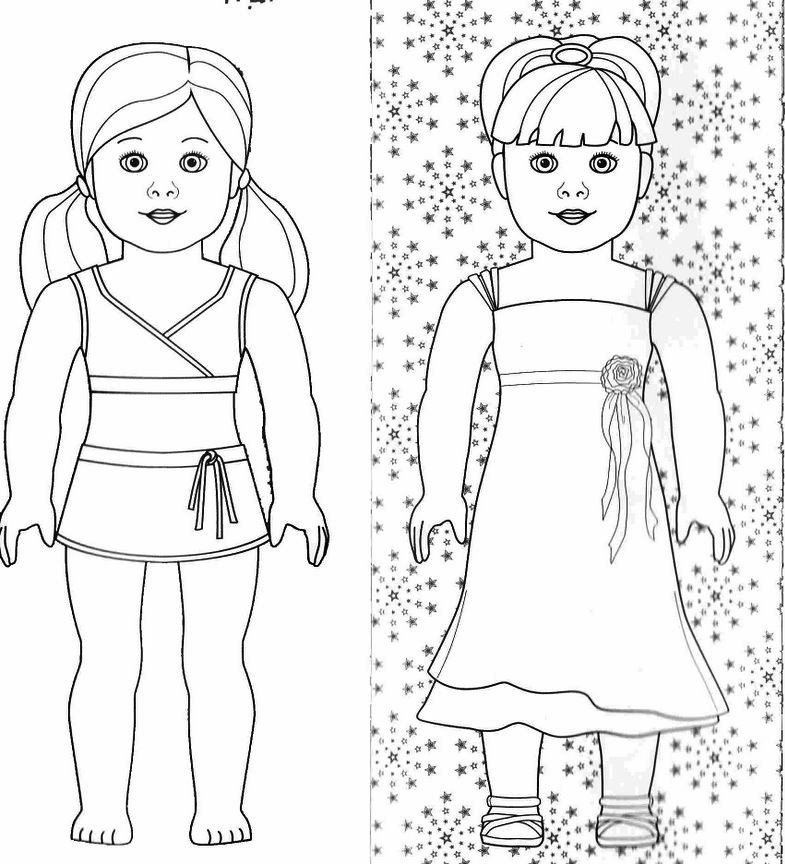 American Girl Doll Coloring Pages  American Girl American Doll Kirsten Colouring Pages