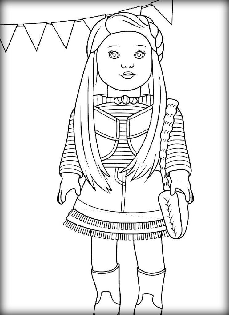 American Girl Doll Coloring Pages  American Girl Doll Coloring Pages Color Zini