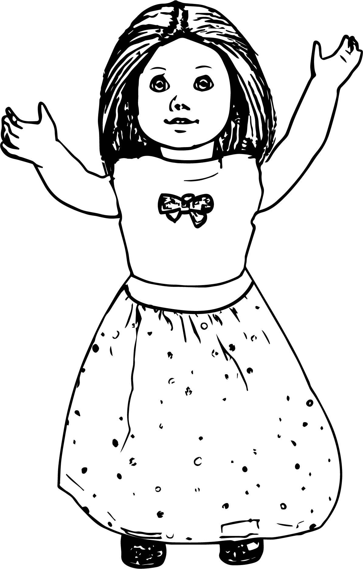 American Girl Doll Coloring Pages  American Girl Doll Toy Coloring Page