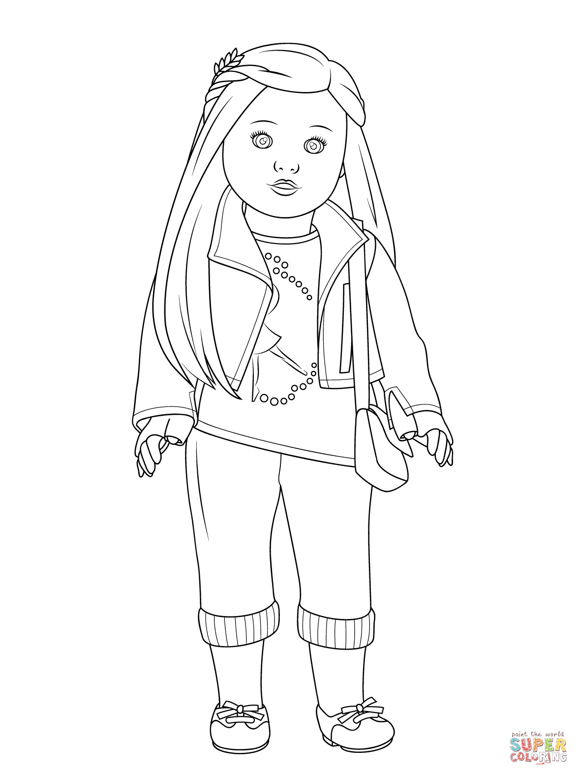American Girl Doll Coloring Pages  American Girl Isabelle Doll coloring page